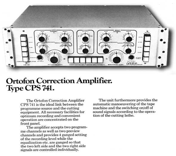 CPS741 Correction Amplifier